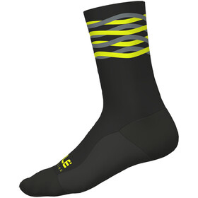 Alé Cycling Speedfondo Winter Socks black-yellow fluo